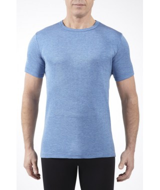 Tee shirt thermojet manches courtes bleu