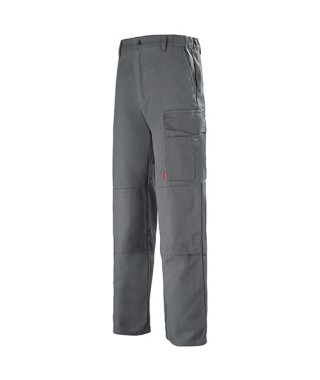 Pantalon multipoches couleur gris