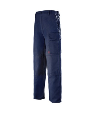 Pantalon multipoches couleur marine